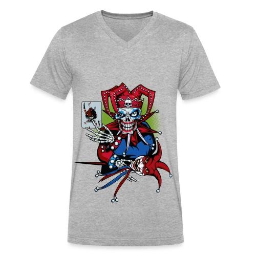 Evil Clown - Men's V-Neck T-Shirt by Canvas
