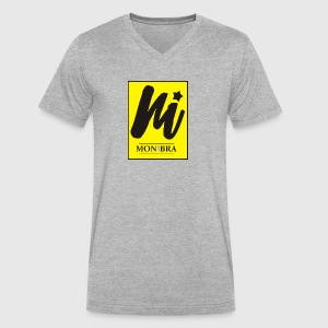 monibra logo - Men's V-Neck T-Shirt by Canvas