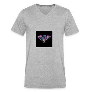 Diamondfashion - Men's V-Neck T-Shirt by Canvas
