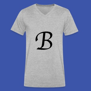 B - Men's V-Neck T-Shirt by Canvas