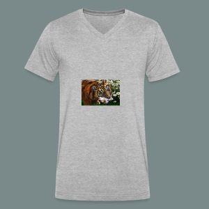 Tiger flo - Men's V-Neck T-Shirt by Canvas