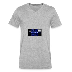 blue-lives-matter-membership-1-1024x538 - Men's V-Neck T-Shirt by Canvas