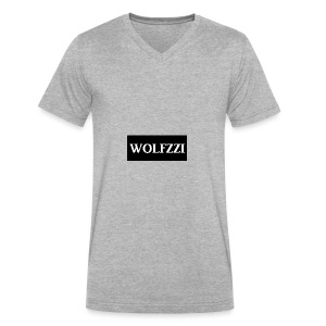 wolfzzishirtlogo - Men's V-Neck T-Shirt by Canvas