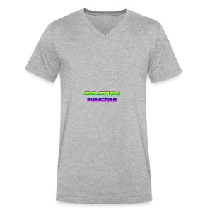 Cool Intros With Subscribe - Men's V-Neck T-Shirt by Canvas
