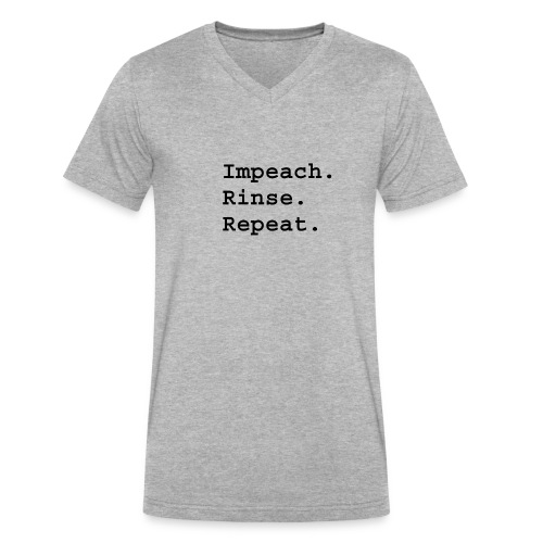 Impeach. Rinse. Repeat. - Men's V-Neck T-Shirt by Canvas