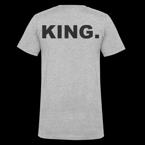 KING - Men's V-Neck T-Shirt by Canvas