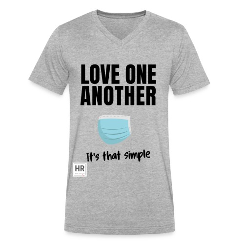 Love One Another - It's that simple - Men's V-Neck T-Shirt by Canvas