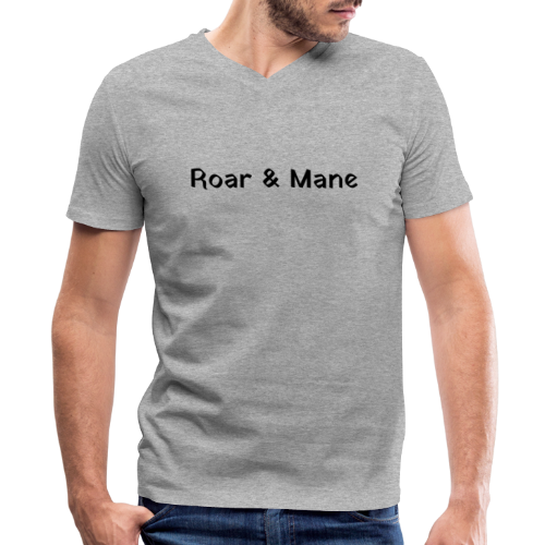 Blocked Out R&M - Men's V-Neck T-Shirt by Canvas