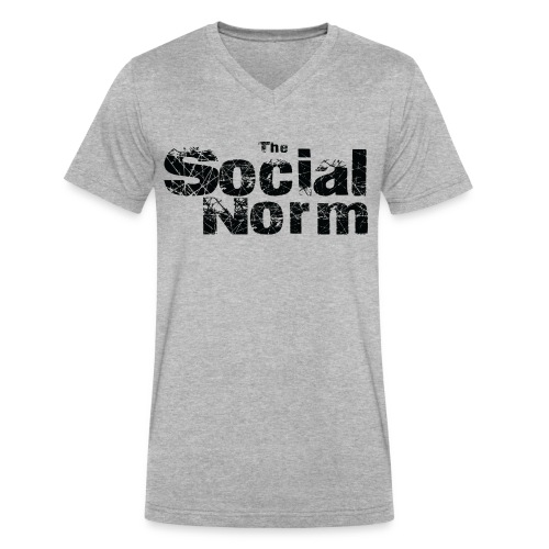 The Social Norm Official Merch - Men's V-Neck T-Shirt by Canvas