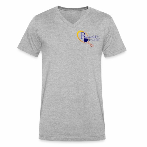 Racquetball Ontario branded products - Men's V-Neck T-Shirt by Canvas