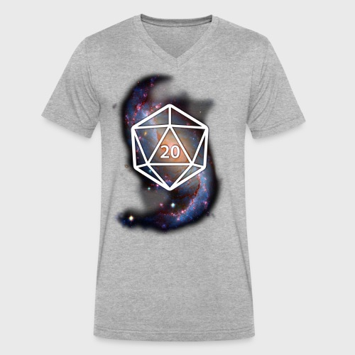 Astronomy Geek d20 Galaxy - Men's V-Neck T-Shirt by Canvas