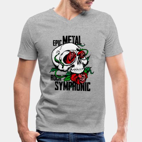 epic rock symphonic - Men's V-Neck T-Shirt by Canvas