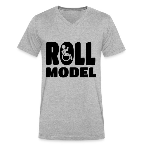 Wheelchair Roll model - Men's V-Neck T-Shirt by Canvas