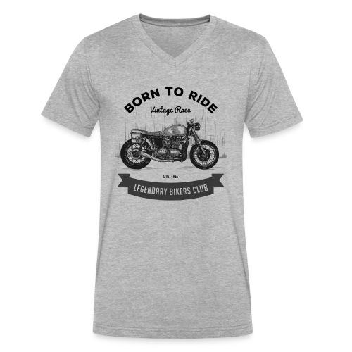 Born to ride Vintage Race T-shirt - Men's V-Neck T-Shirt by Canvas