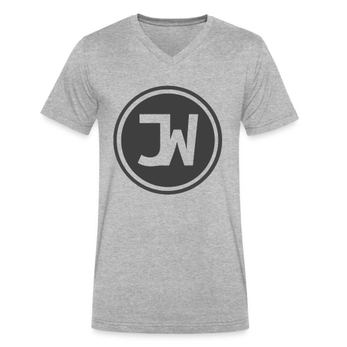 Grey Johannes With Logo - Men's V-Neck T-Shirt by Canvas