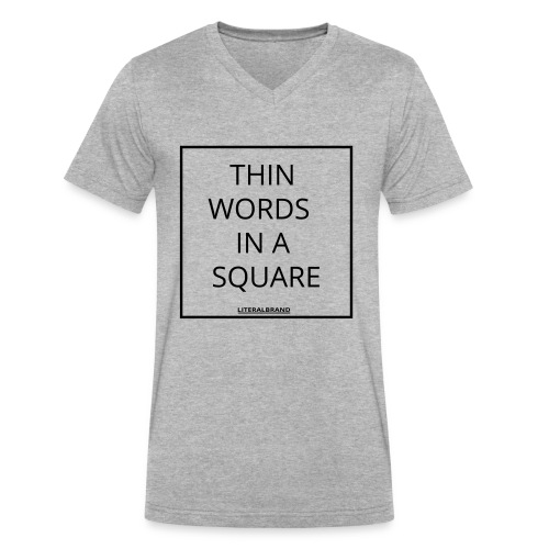 words in a square - Men's V-Neck T-Shirt by Canvas