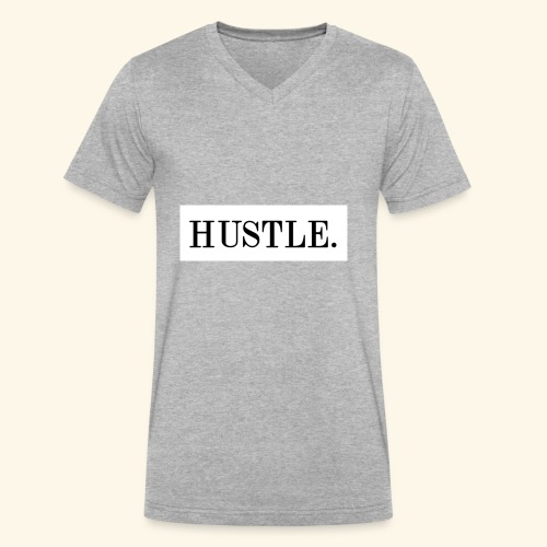 Hustle - Men's V-Neck T-Shirt by Canvas