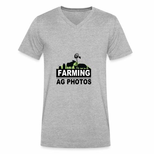 Farming Ag Photos - Men's V-Neck T-Shirt by Canvas