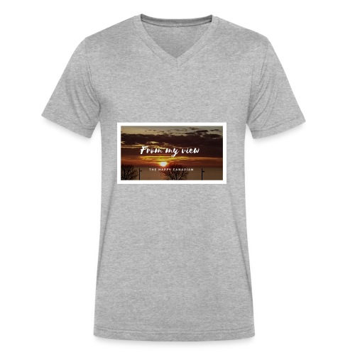 THE HAPPY CANADIAN - Men's V-Neck T-Shirt by Canvas