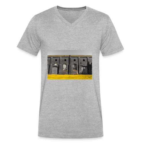 Bricks: who worked here - Men's V-Neck T-Shirt by Canvas