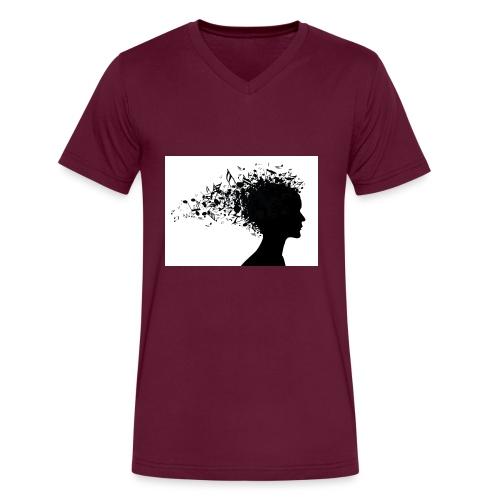 music through my head - Men's V-Neck T-Shirt by Canvas