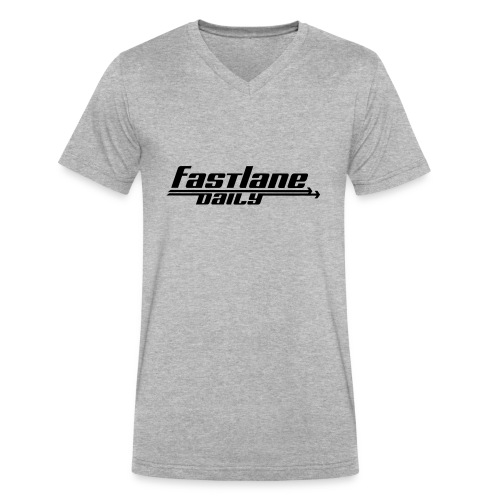 Fast Lane Daily logo - Men's V-Neck T-Shirt by Canvas