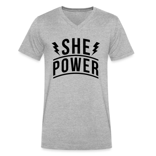 She Power - Men's V-Neck T-Shirt by Canvas