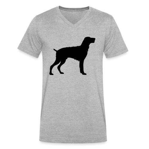 German Wirehaired Pointer - Men's V-Neck T-Shirt by Canvas