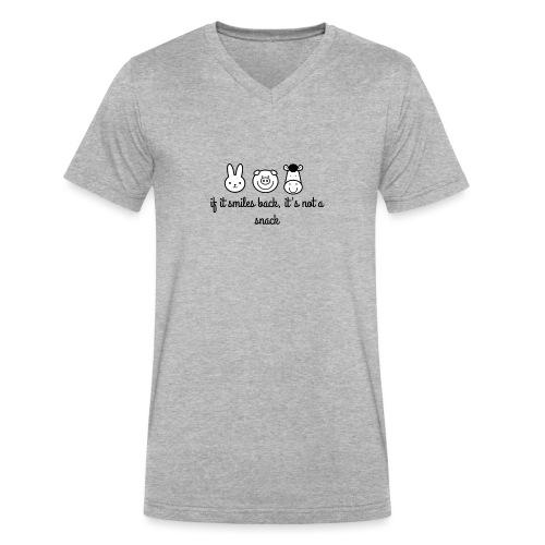 SMILE BACK - Men's V-Neck T-Shirt by Canvas