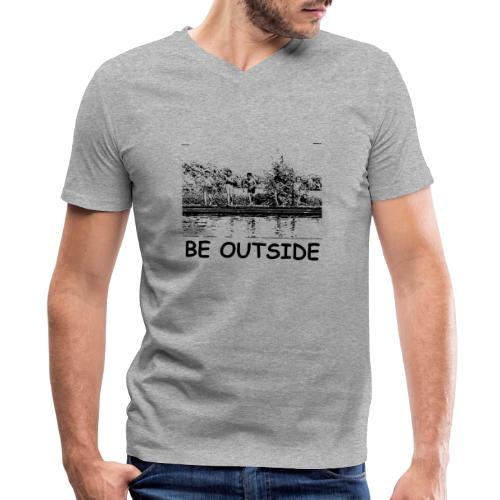 Be Outside - Men's V-Neck T-Shirt by Canvas