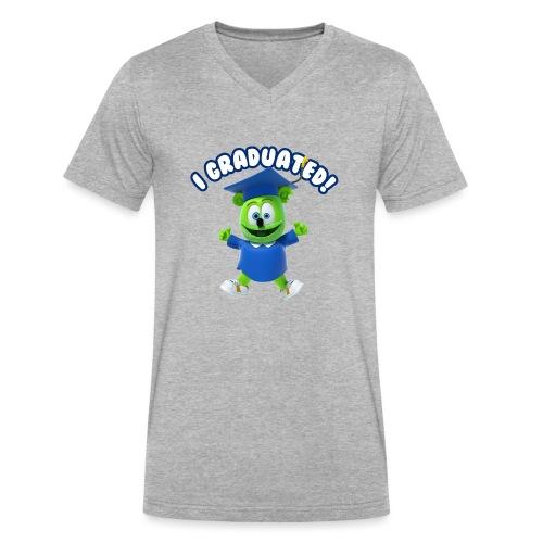 I Graduated! Gummibar (The Gummy Bear) - Men's V-Neck T-Shirt by Canvas