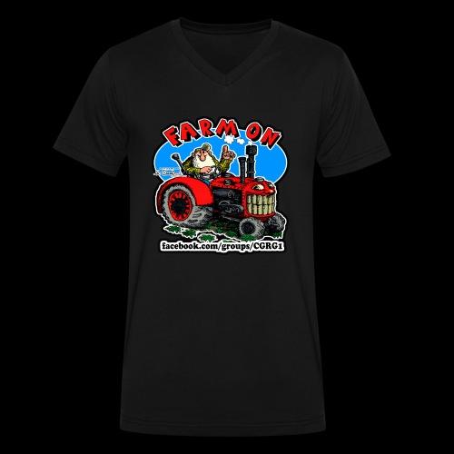 Mr Natural Farm On - Men's V-Neck T-Shirt by Canvas