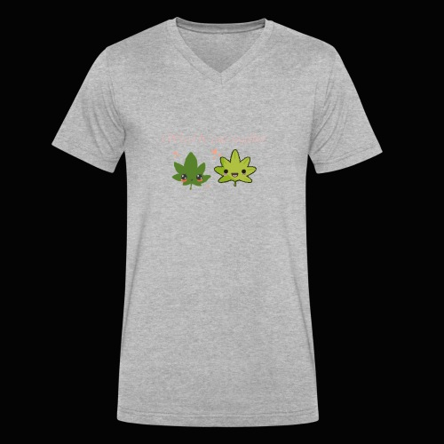 Weed Be Cute Together - Men's V-Neck T-Shirt by Canvas