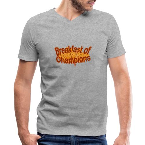 Breakfast of Champions - Men's V-Neck T-Shirt by Canvas