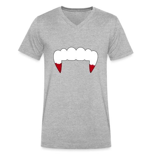 Vampire Fangs - Men's V-Neck T-Shirt by Canvas