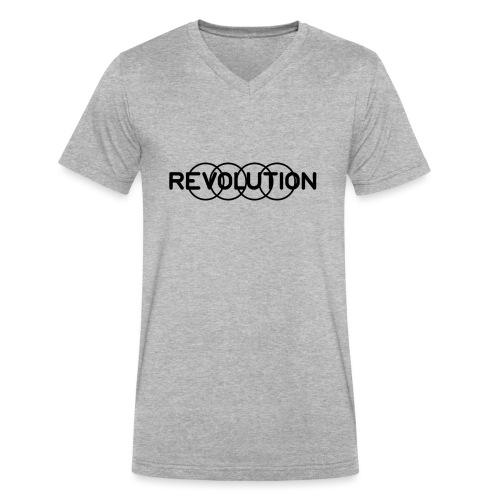 Revolution Black Logo - Men's V-Neck T-Shirt by Canvas