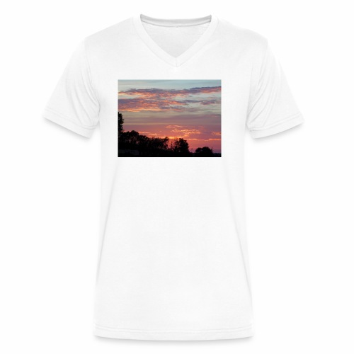 Sunset of Pastels - Men's V-Neck T-Shirt by Canvas