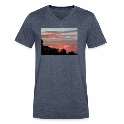 Sunset of Pastels - Men's V-Neck T-Shirt by Canvas