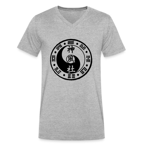 SWC LOGO BLACK - Men's V-Neck T-Shirt by Canvas