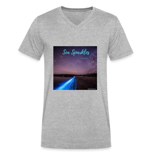 Tasmanian Sea Sparkles - Men's V-Neck T-Shirt by Canvas