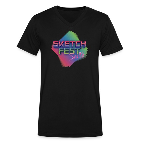 SketchFest2016 Tshirt 2500x2500 png - Men's V-Neck T-Shirt by Canvas