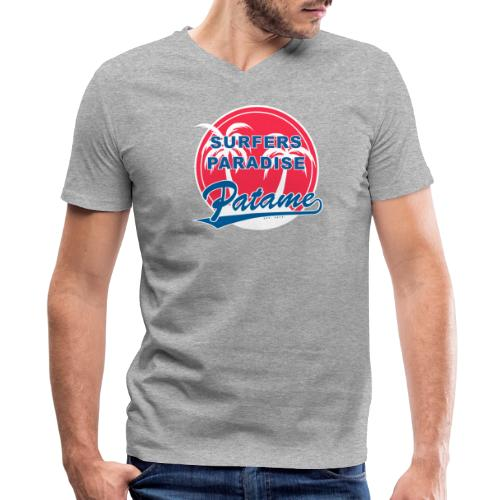 Patame Surfers Paradise RedWhite - Men's V-Neck T-Shirt by Canvas