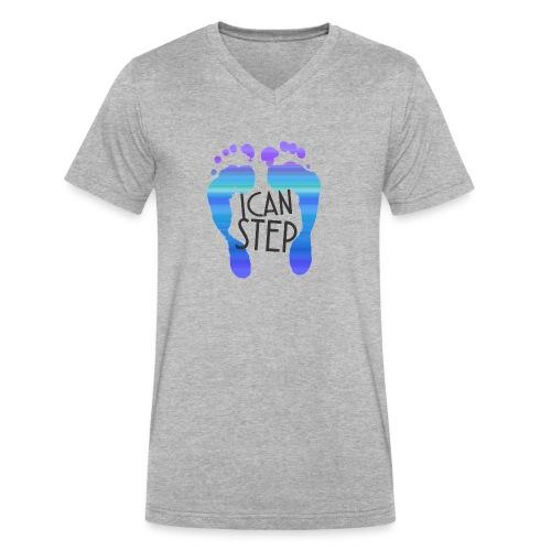 I.C.A.N.S.T.E.P. MOTTO - Men's V-Neck T-Shirt by Canvas