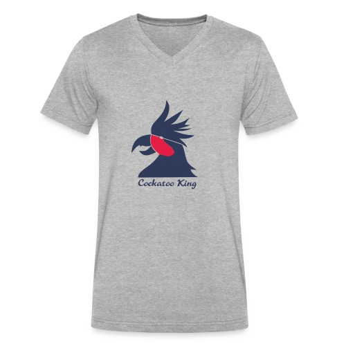 Cockatoo Logo - Men's V-Neck T-Shirt by Canvas