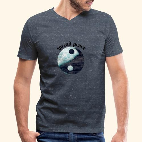 spread peace - Men's V-Neck T-Shirt by Canvas
