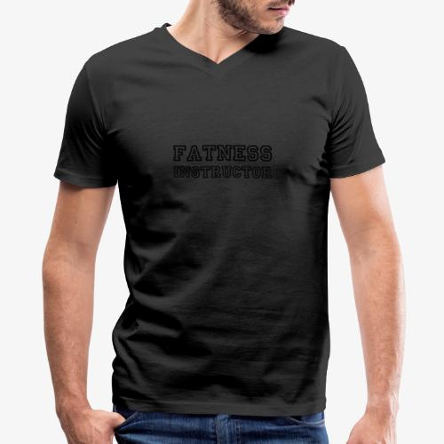Fatness Instructor - Men's V-Neck T-Shirt by Canvas