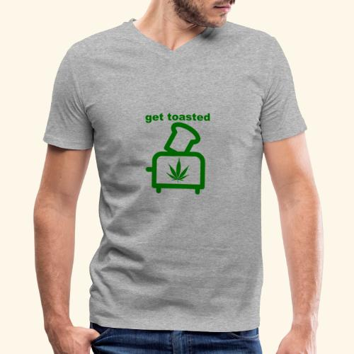 GET TOASTED - Men's V-Neck T-Shirt by Canvas
