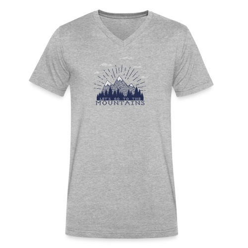 Adventure Mountains T-shirts and Products - Men's V-Neck T-Shirt by Canvas