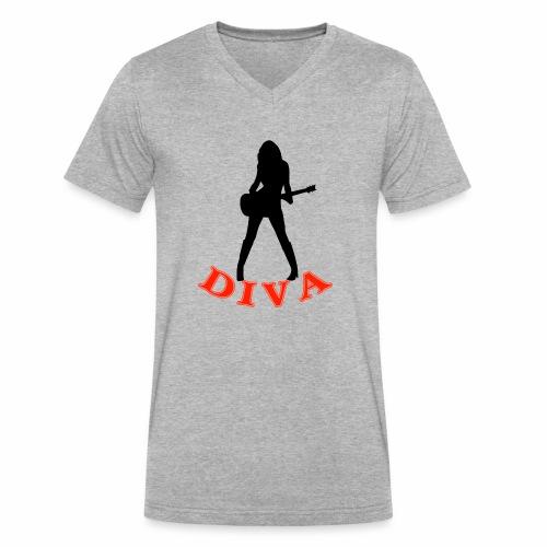 Rock Star Diva - Men's V-Neck T-Shirt by Canvas