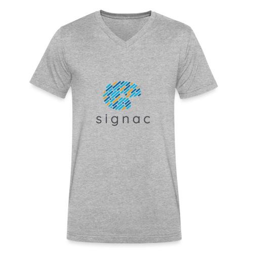 signac - Men's V-Neck T-Shirt by Canvas